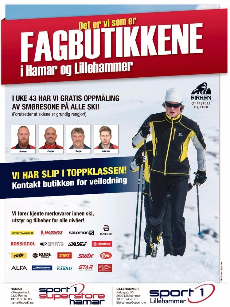 Fagbutikkene - Sport 1 Superstore Hamar og Sport 1 Lillehammer